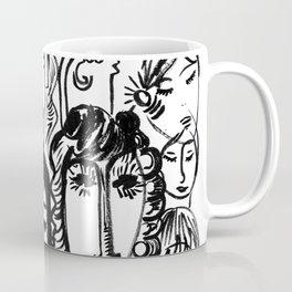 Black and white girls sketches graffitis Coffee Mug