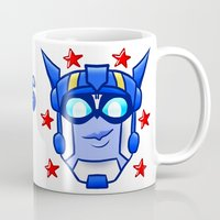optimus prime Mugs featuring Transformers Animated Optimus Prime by Bloo McDoodle