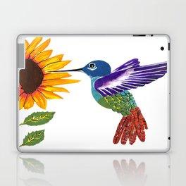 The Sunflower And The Hummingbird Laptop & iPad Skin