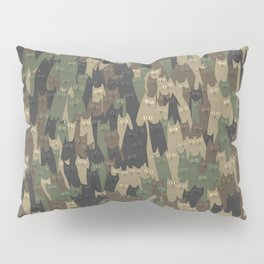 Camouflage cats Pillow Sham
