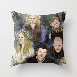 Vikings Wallpaper Throw Pillow