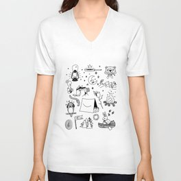 Animals Youth at Summer Camp Unisex V-Neck