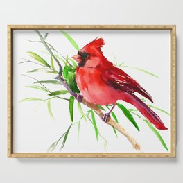 Cardinal Bird Serving Tray