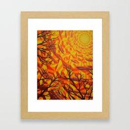 Sun Bathing Naked Trees Framed Art Print