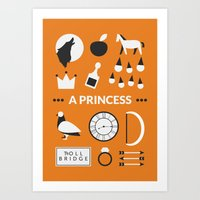 ouat Art Prints featuring OUAT - A Princess by Redel Bautista
