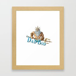 Dad Bod Framed Art Print