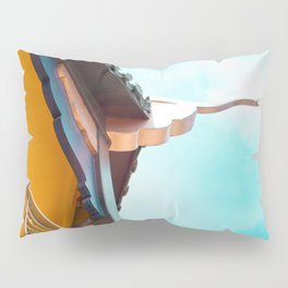 Travel photography Chinatown Los Angeles VII Temple side detail Pillow Sham