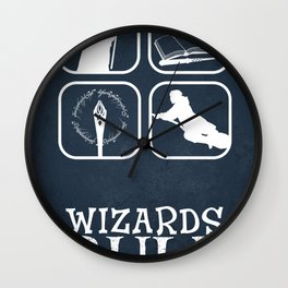 Wizards Rule Wall Clock