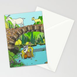 Three Billy Goats Gruff (color) Stationery Cards