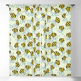 Bumble Bees of Summer Blackout Curtain