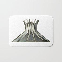 cathedral - landmark of Brasilia city Bath Mat