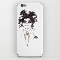 basquiat iPhone & iPod Skins featuring Basquiat by K.Fields