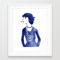 coco Framed Art Prints featuring Coco by Kathryn Nyquist