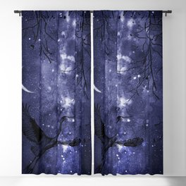 Starry Night and Moon #4 Blackout Curtain