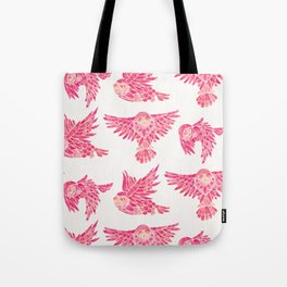 Owls in Flight – Pink Palette Tote Bag