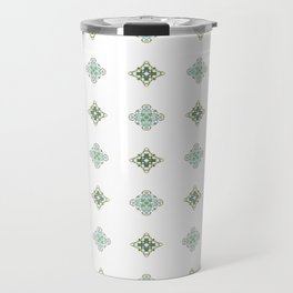Turquoise With A Tough Of Gold Pattern Travel Mug
