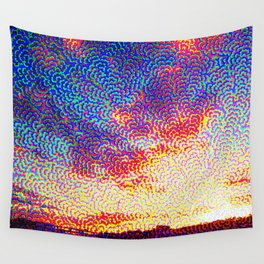 Clouds at sunset Wall Tapestry