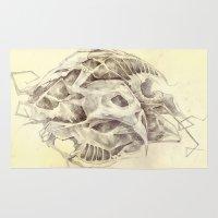 bones Area & Throw Rugs featuring Bones by Vilebedeva