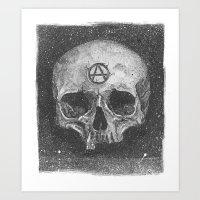 A-Skull2 Art Print