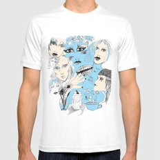 Scribbles  MEDIUM White Mens Fitted Tee