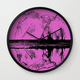 Knik River Mts. Pop Art - 5 Wall Clock