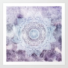DEEP PURPLE MANDALA Art Print