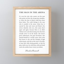 The Man In The Arena Framed Mini Art Print