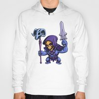 skeletor Hoodies featuring Little Skeletor by Rico Marcano