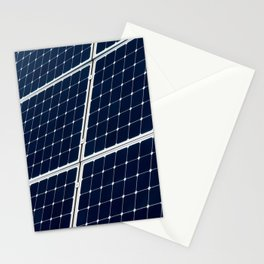 Image Of A Photovoltaic Solar Battery. Free Clean Energy For Everyone Stationery Cards