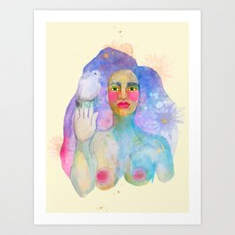 We all bleed the same color  Art Print