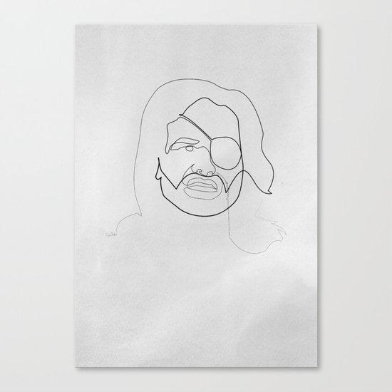 One line Snake Plissken Canvas Print