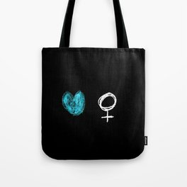 symbol of woman with a heart 2 Tote Bag