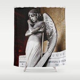 Angel of the Resurrection - Oneto Family Plot Portrait #2 by Jeanpaul Ferro Shower Curtain