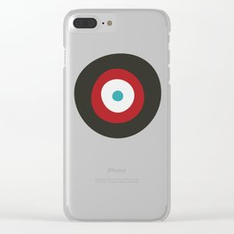 Red, Gray, & Blue Targets Clear iPhone Case