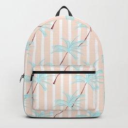Modern tropical teal ivory geometrical palm tree floral Backpack