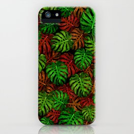 Monstera Leaf Pattern iPhone Case