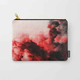 In Pain - Red And Black Abstract Carry-All Pouch