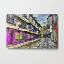 The Shambles York Van Gogh Metal Print