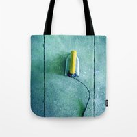 iron maiden Tote Bags featuring iron by Claudia Drossert