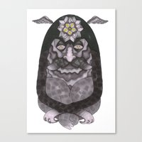 wiz khalifa Canvas Prints featuring Totem/Wiz by Jason Gillis