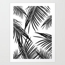 Black Palm Leaves Dream #1 #tropical #decor #art #society6 Art Print