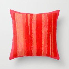Red Hot Cactus Throw Pillow
