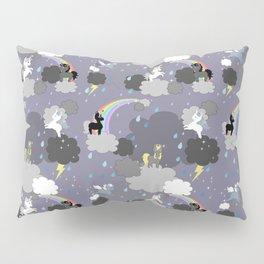 Kawaii Unicorns in the Rain Pillow Sham