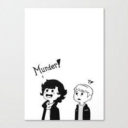 MURDER! - said Sherlock Canvas Print