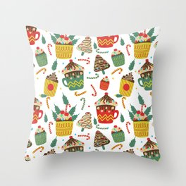 HOT COCOA Throw Pillow