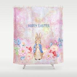 Hoppy The Bunny 3-Hoppy Easter Shower Curtain