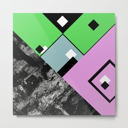 Conformity - Abstract, Textured, Geometric, Pop Art Metal Print