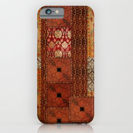 Vintage textile patches iPhone Case