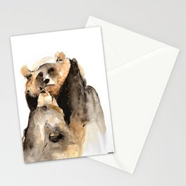 Two bears united Stationery Cards