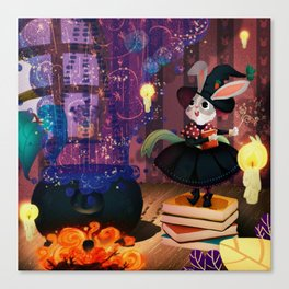 Ms. Bunny the witch Canvas Print